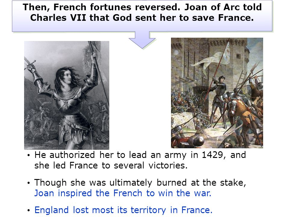 Then, French fortunes reversed