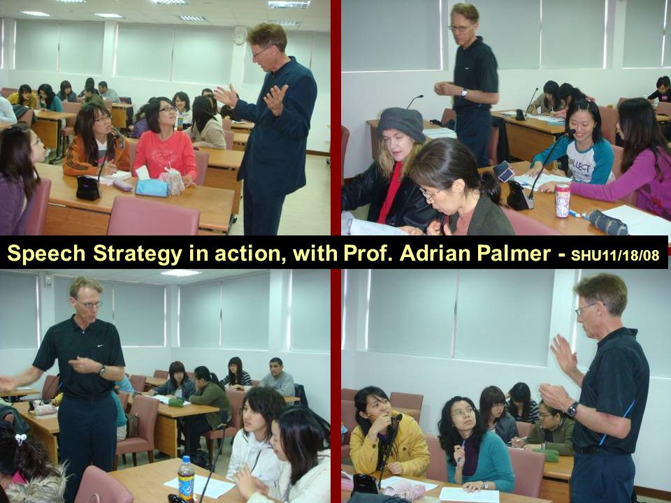 Speech Strategy in action, with Prof. Adrian Palmer - SHU11/18/08