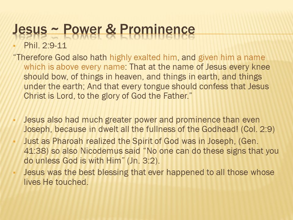 Jesus ~ Power & Prominence