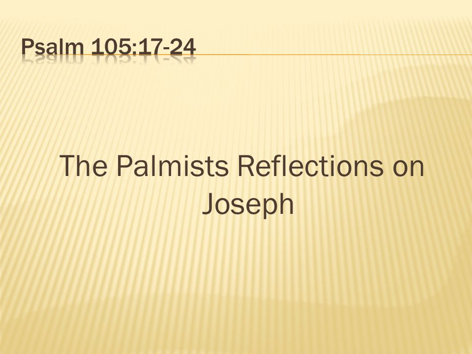 The Palmists Reflections on Joseph