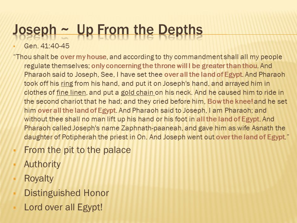Joseph ~ Up From the Depths