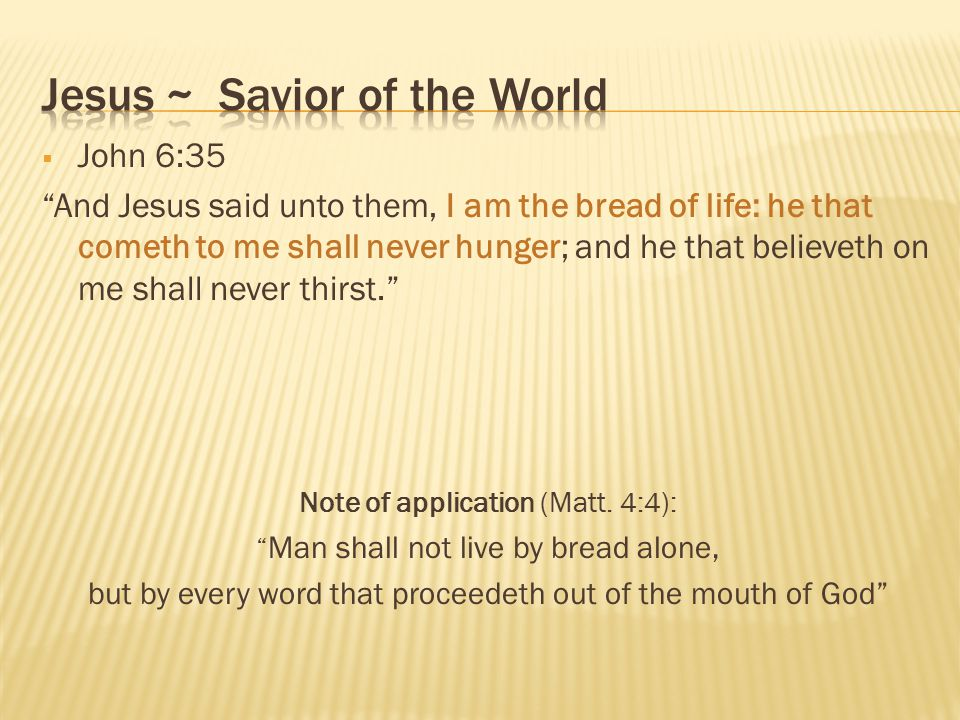 Jesus ~ Savior of the World