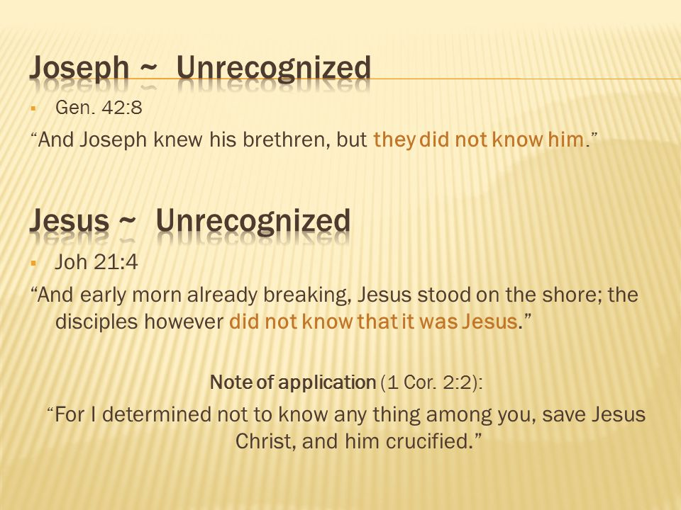 Note of application (1 Cor. 2:2):