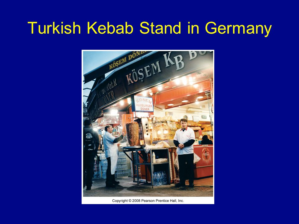 Turkish Kebab Stand in Germany