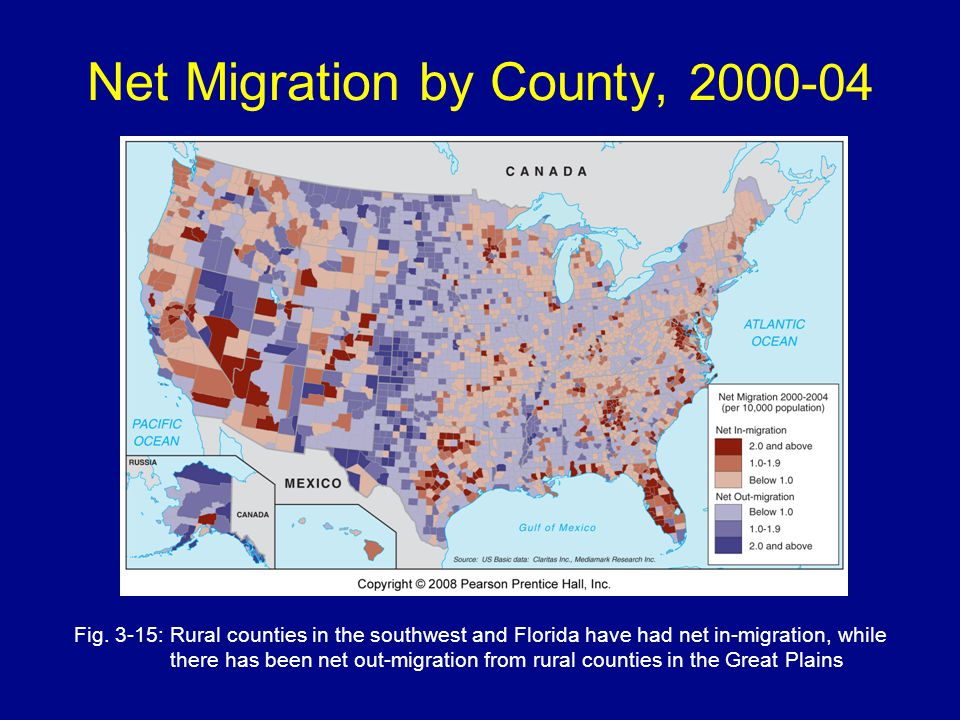 Net Migration by County, 2000-04