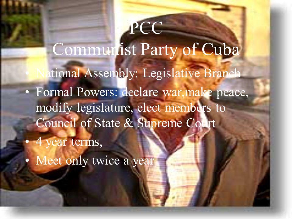 PCC Communist Party of Cuba