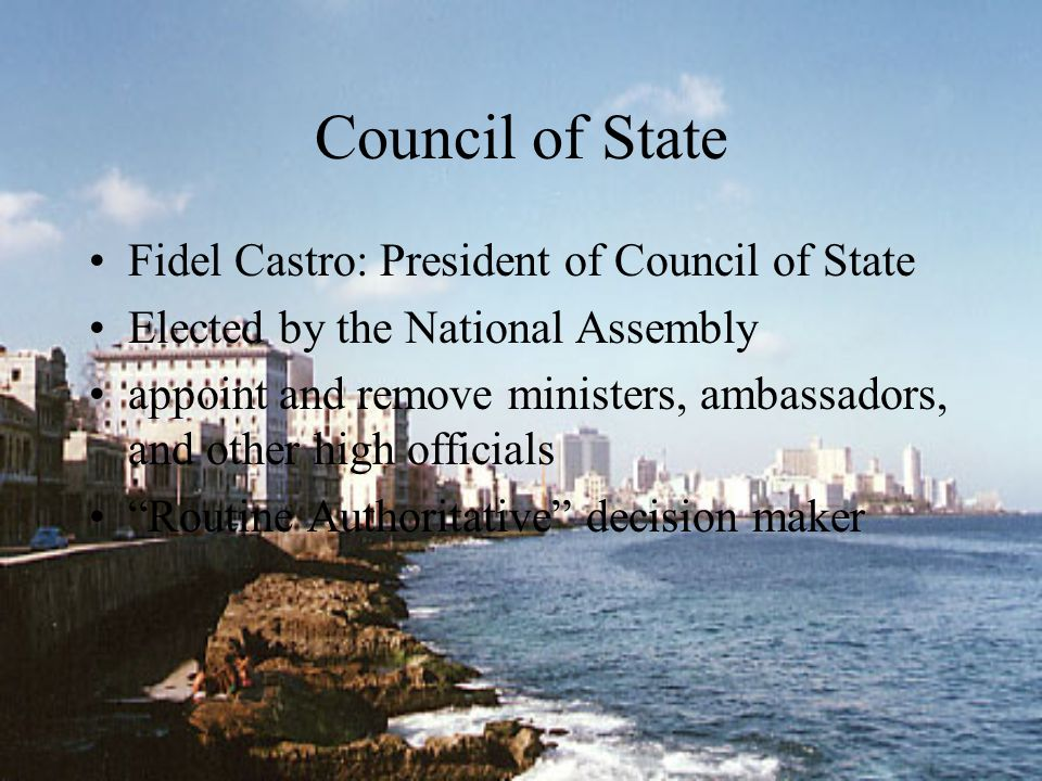 Council of State Fidel Castro: President of Council of State