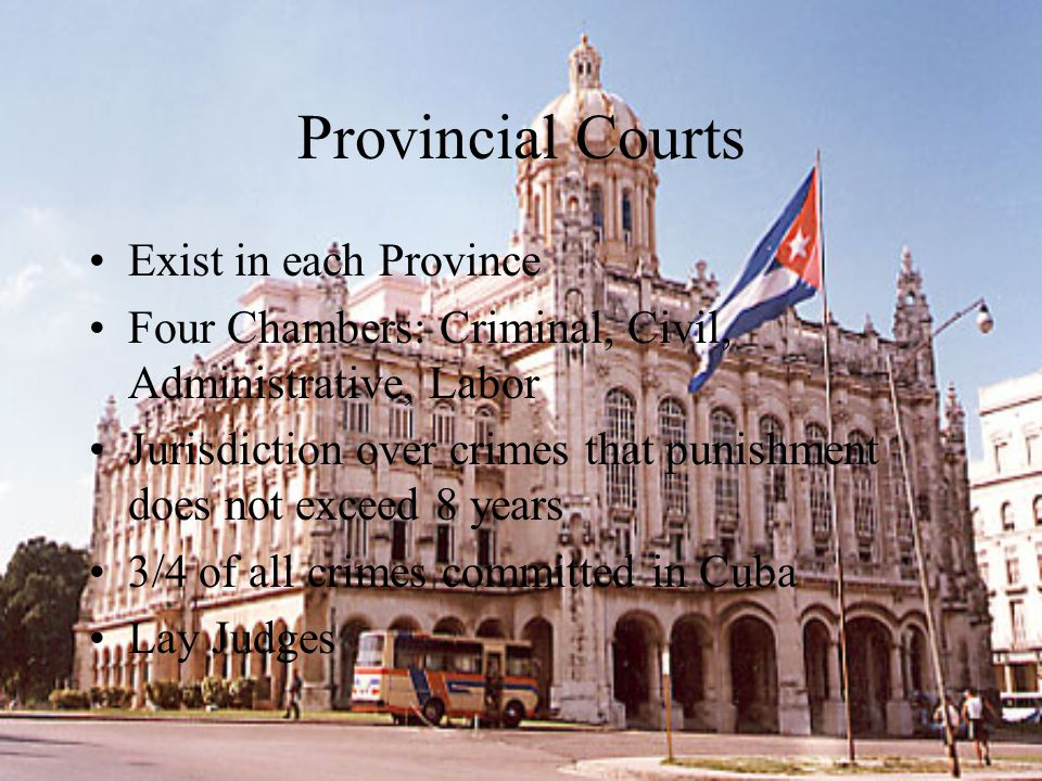 Provincial Courts Exist in each Province