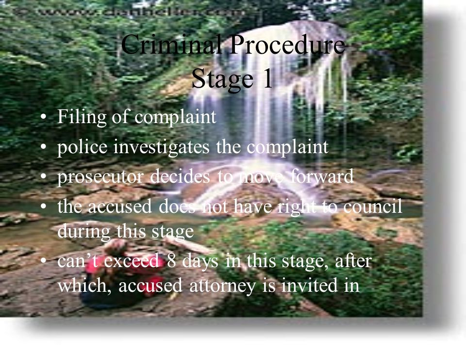 Criminal Procedure Stage 1