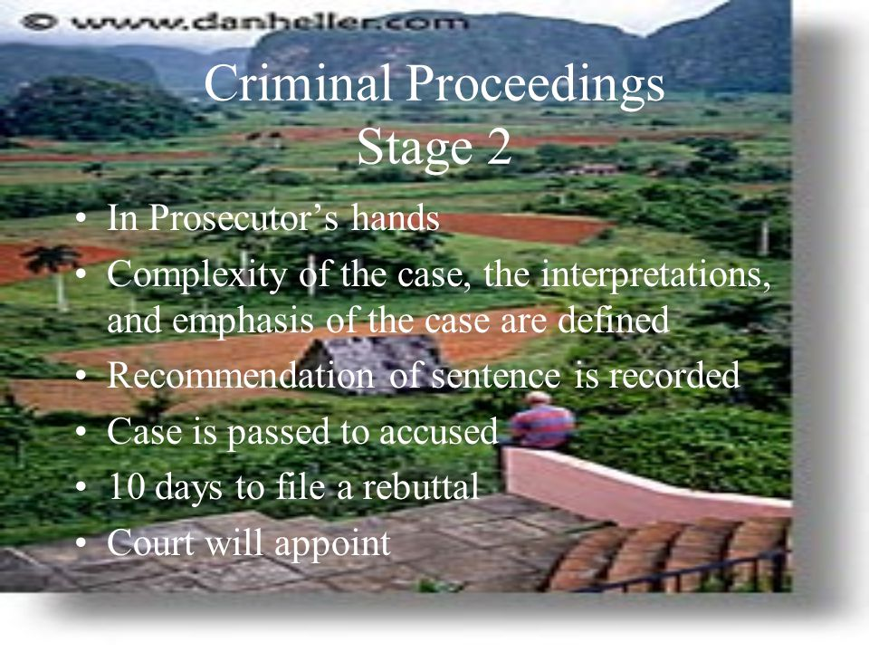 Criminal Proceedings Stage 2