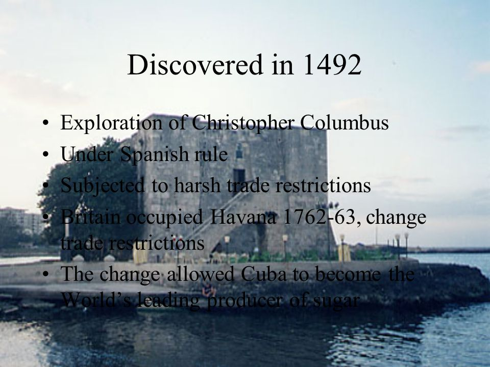 Discovered in 1492 Exploration of Christopher Columbus