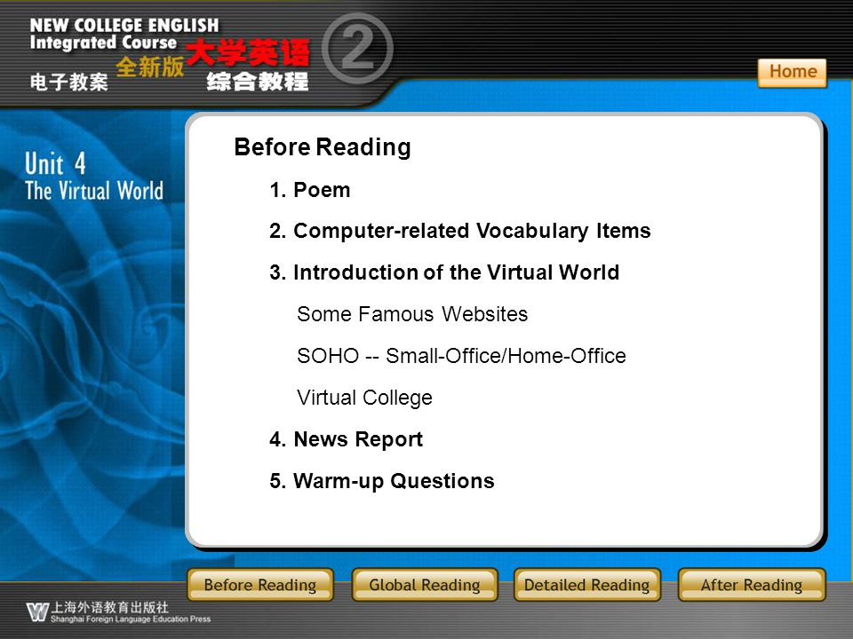 BR-main Before Reading 1. Poem 2. Computer-related Vocabulary Items