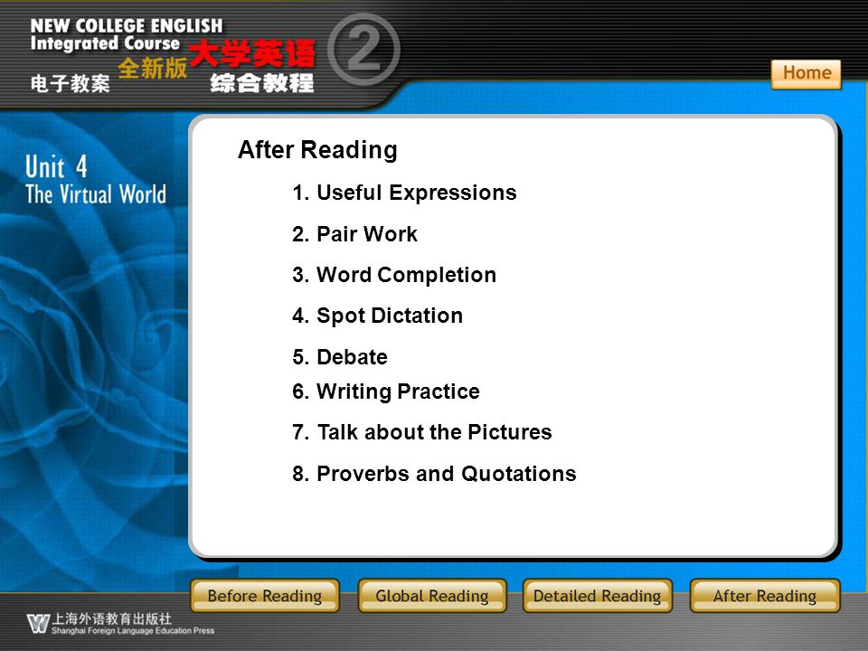 AR-Main After Reading 1. Useful Expressions 2. Pair Work