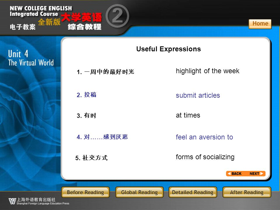 AR-1-1 Useful Expressions highlight of the week submit articles