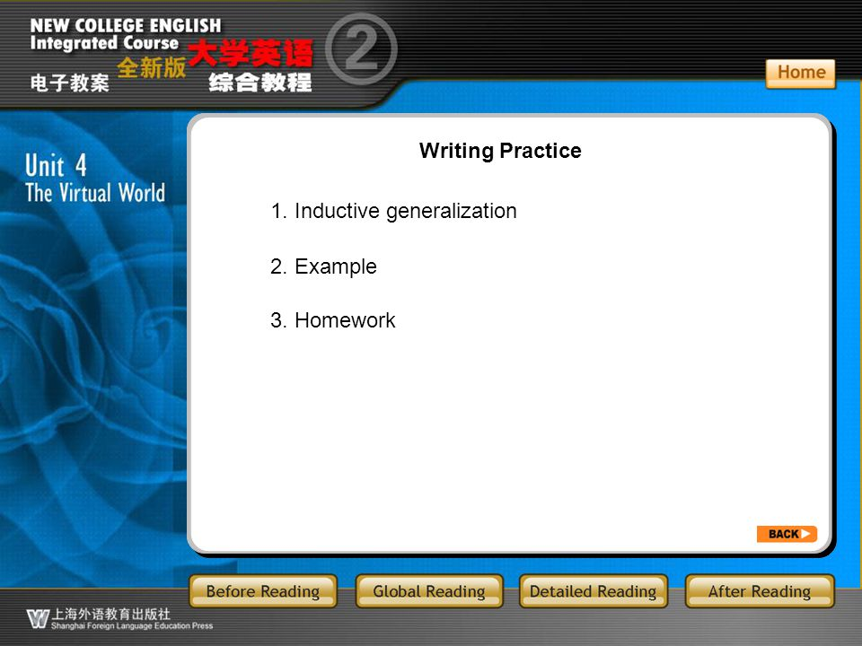 AR-7-main Writing Practice 1. Inductive generalization 2. Example