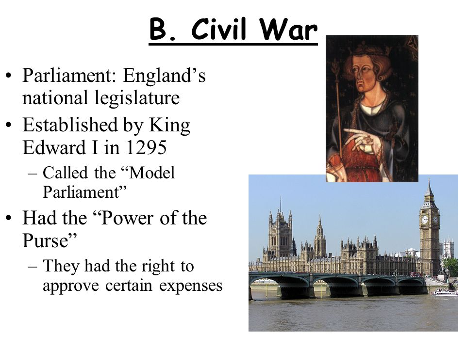 B. Civil War Parliament: England's national legislature
