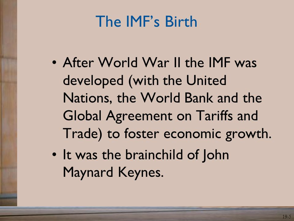 The IMF's Birth