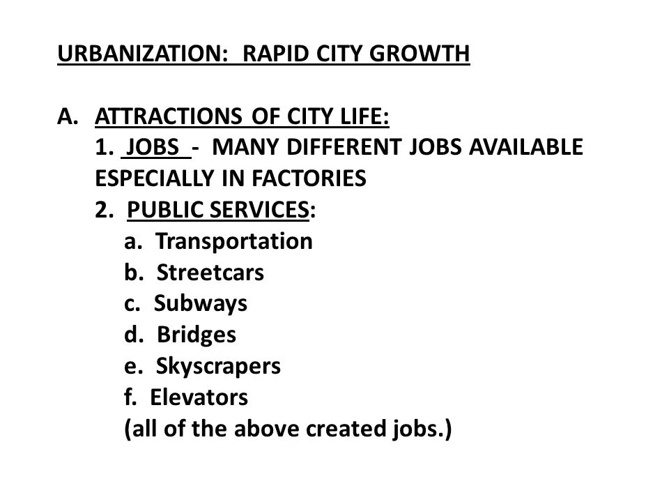 URBANIZATION: RAPID CITY GROWTH