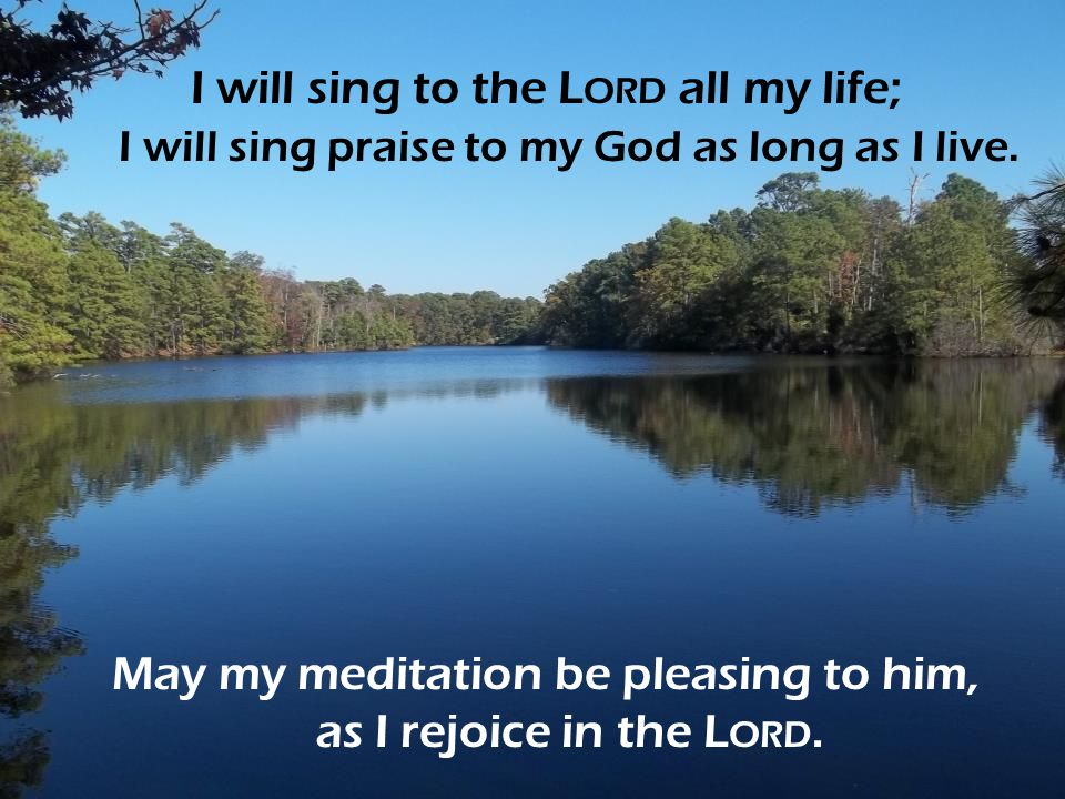 May my meditation be pleasing to him, as I rejoice in the Lord.