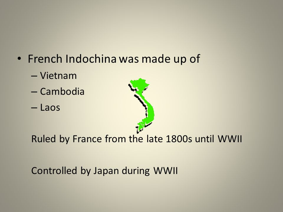 French Indochina was made up of