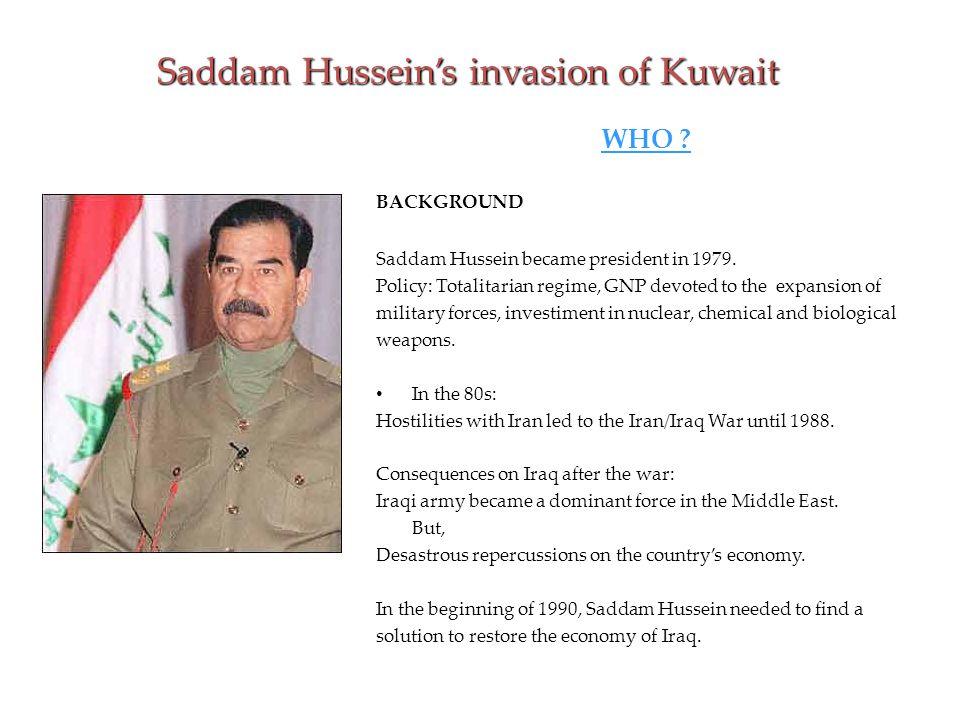 Saddam Hussein's invasion of Kuwait