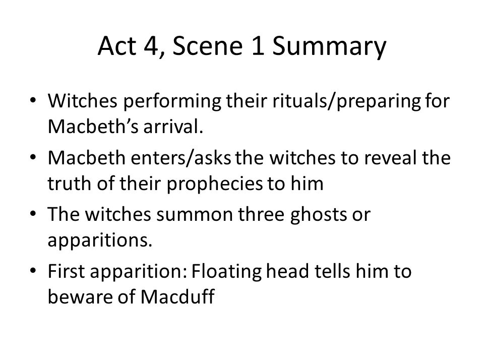 witches first prophecy in macbeth