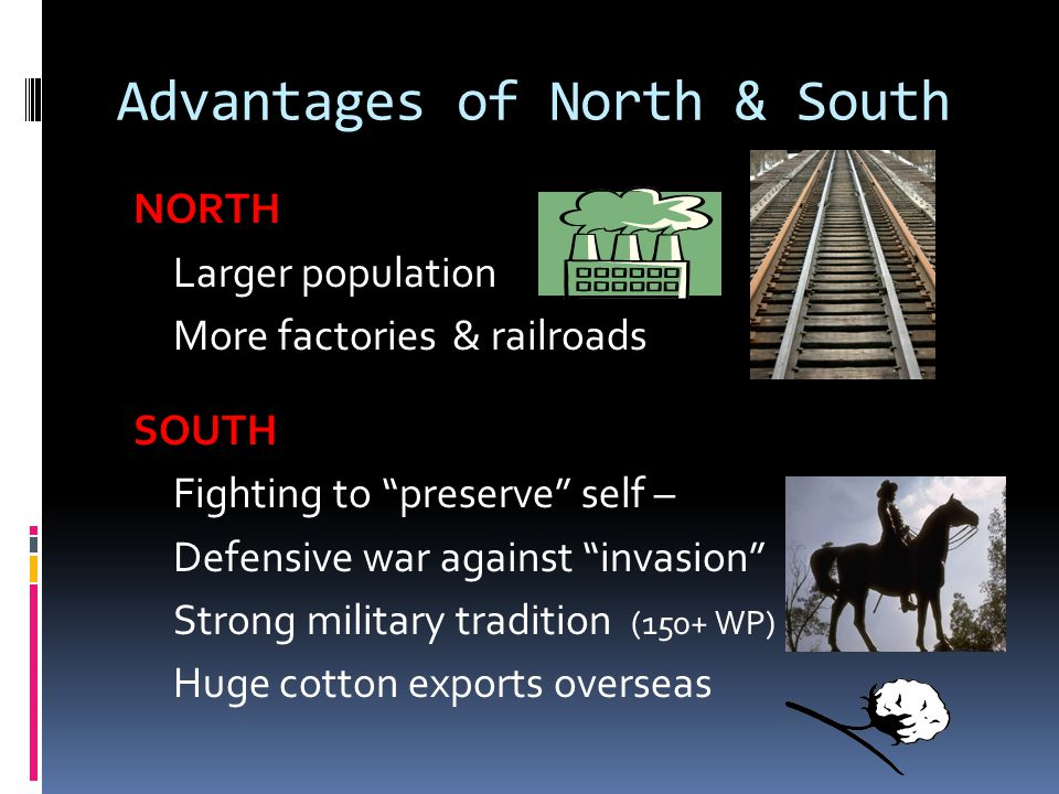 Advantages of North & South
