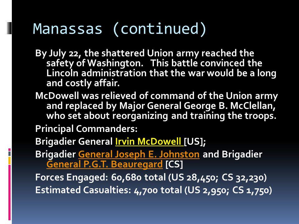 Manassas (continued)