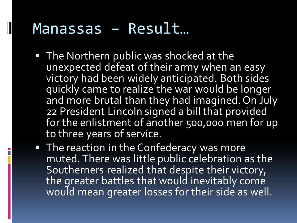 Manassas – Result…