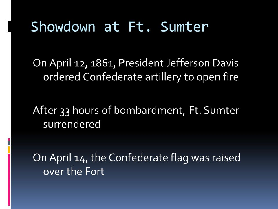 Showdown at Ft. Sumter