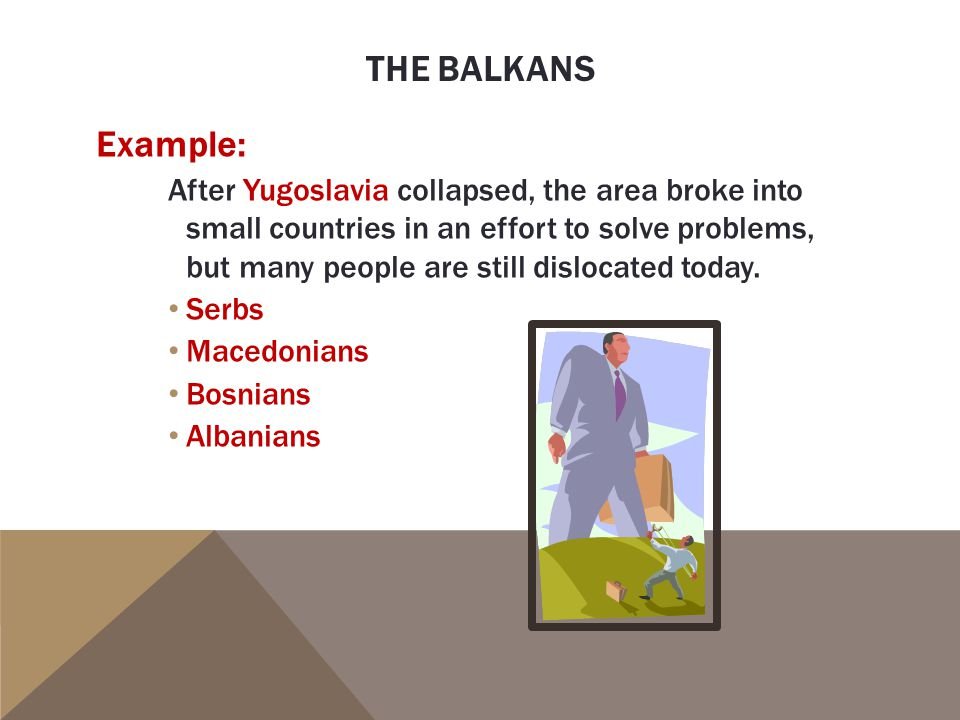 The balkans Example: