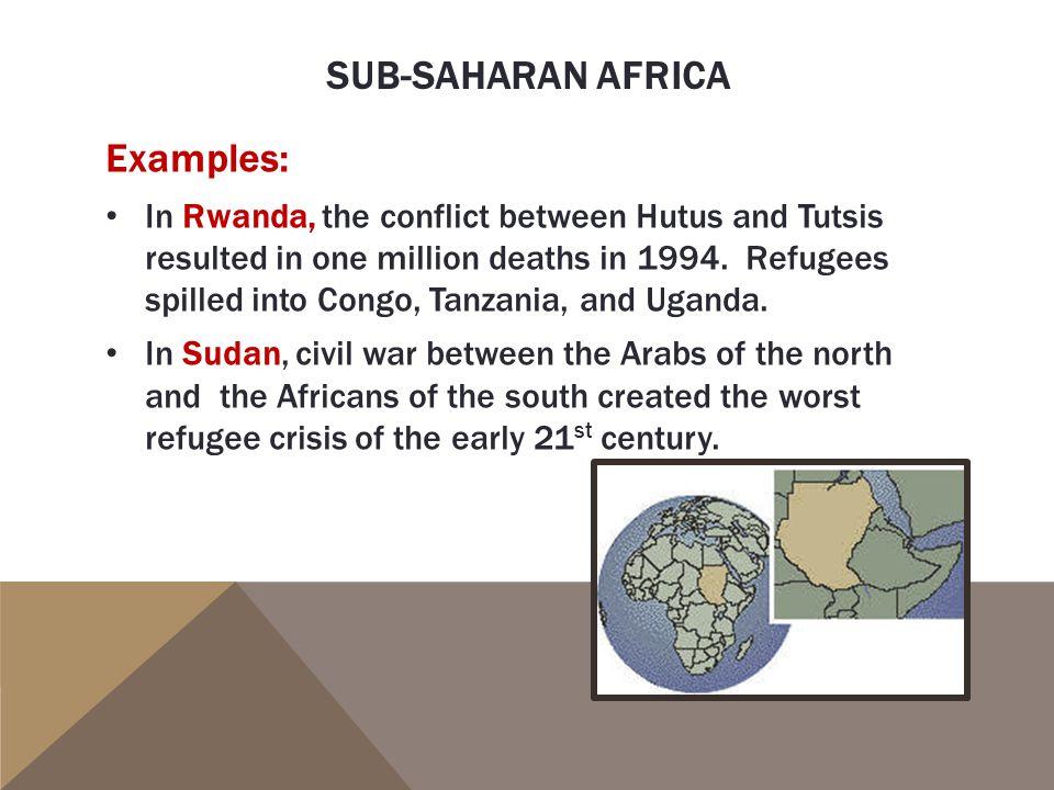 Sub-saharan africa Examples: