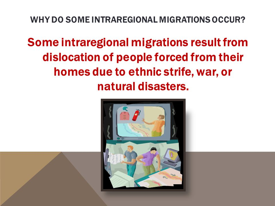 Why do some intraregional migrations occur