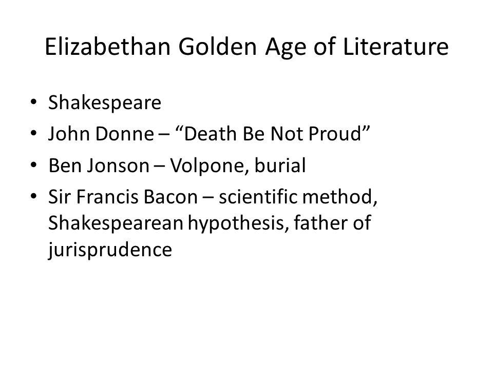 Elizabethan Golden Age of Literature