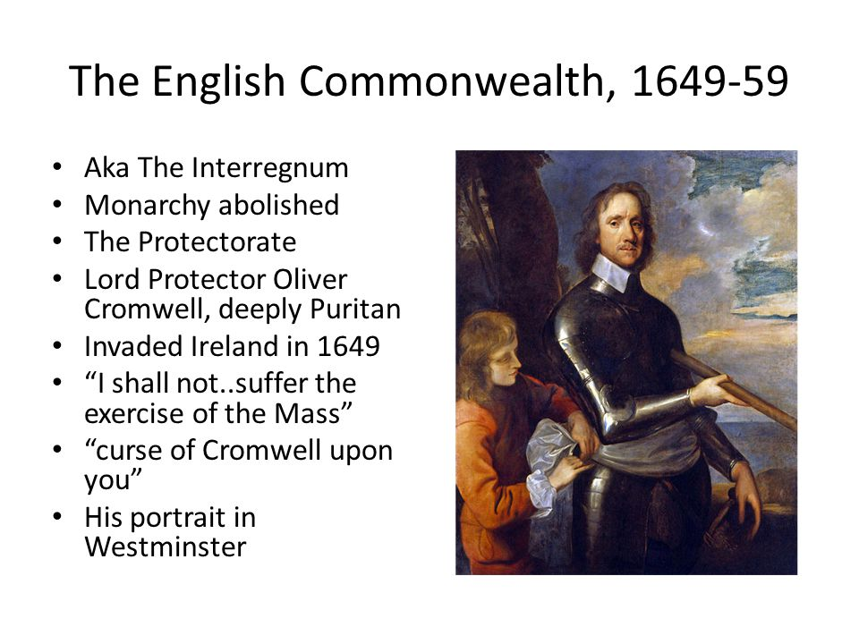 The English Commonwealth, 1649-59
