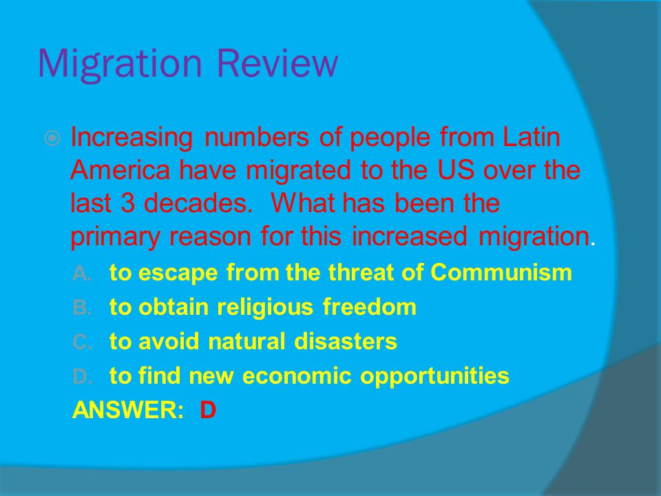 Migration Review