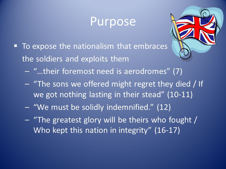 Purpose To expose the nationalism that embraces