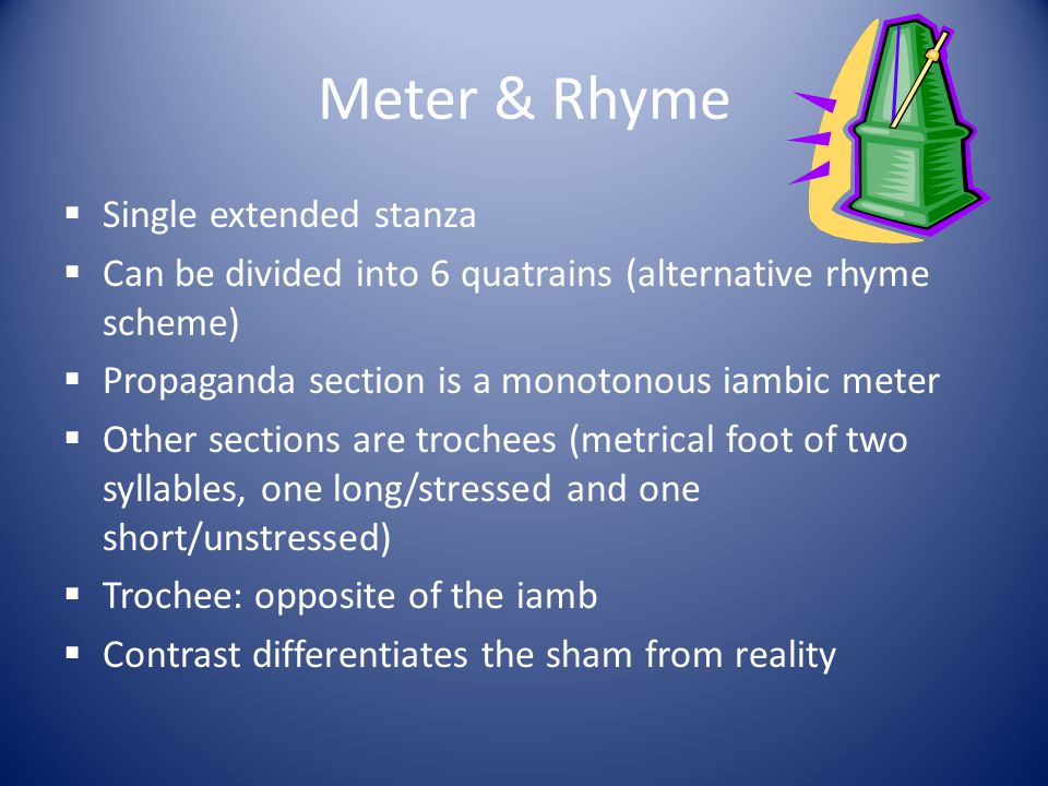 Meter & Rhyme Single extended stanza