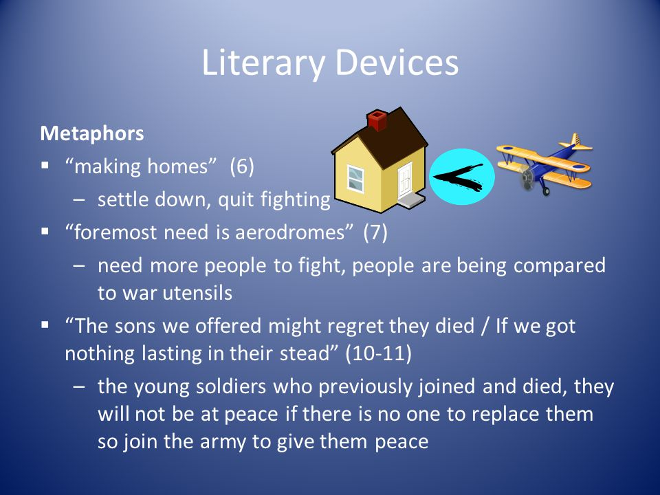 Literary Devices Metaphors making homes (6)