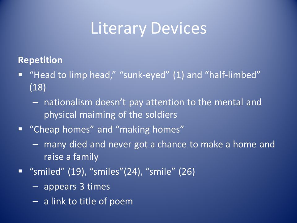 Literary Devices Repetition