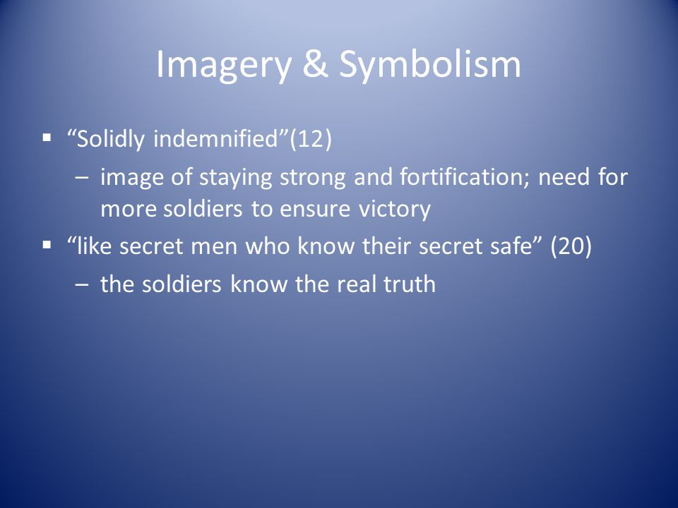 Imagery & Symbolism Solidly indemnified (12)