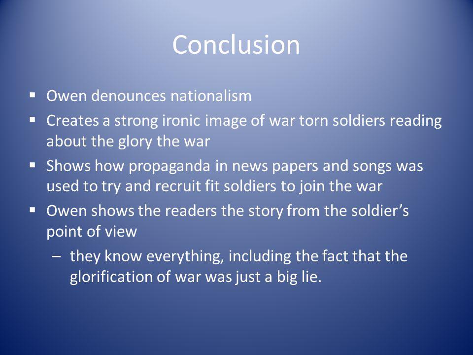 Conclusion Owen denounces nationalism