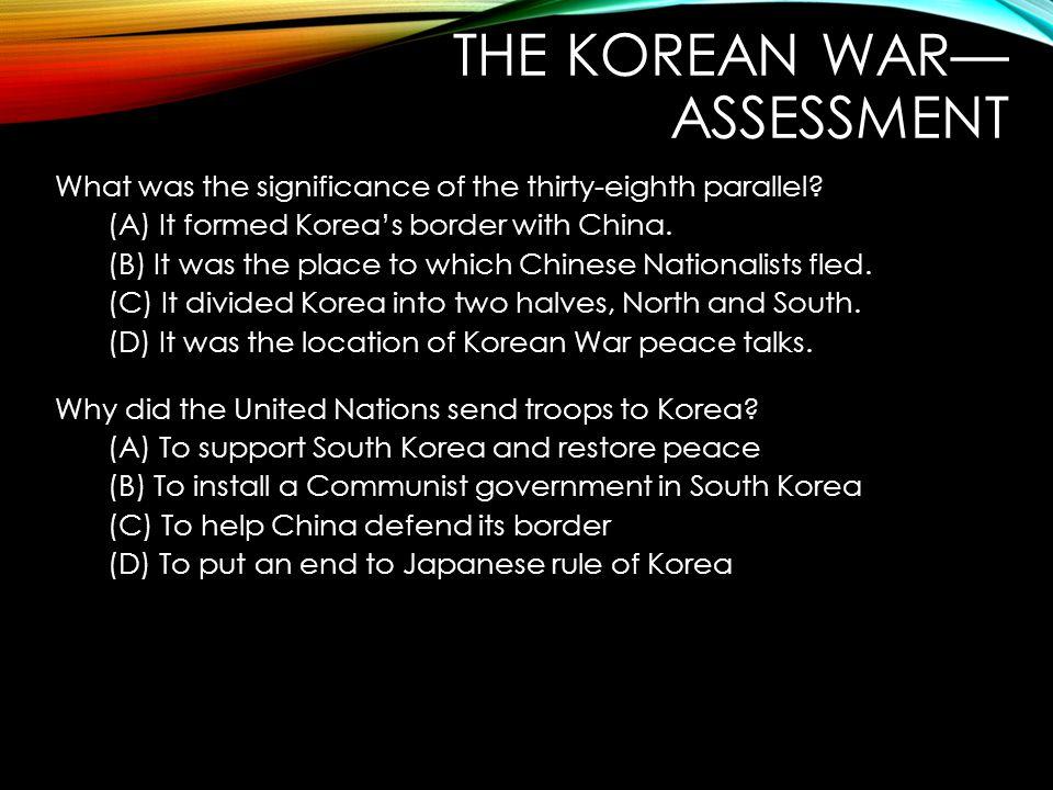 The Korean War—Assessment