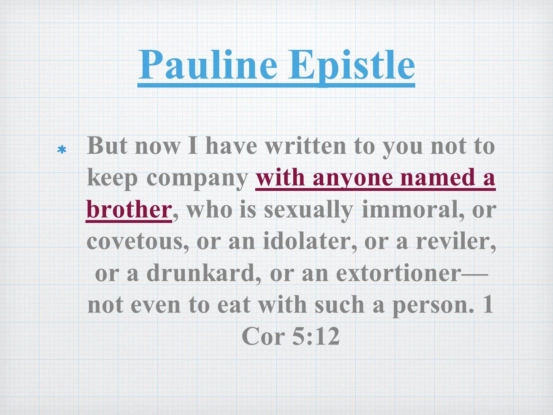 Pauline Epistle