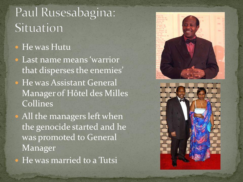 Paul Rusesabagina: Situation