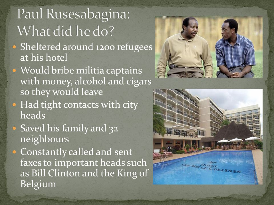 Paul Rusesabagina: What did he do