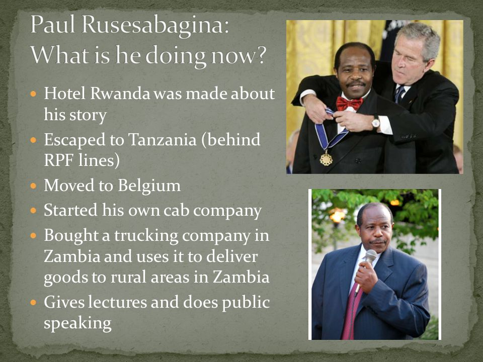 Paul Rusesabagina: What is he doing now