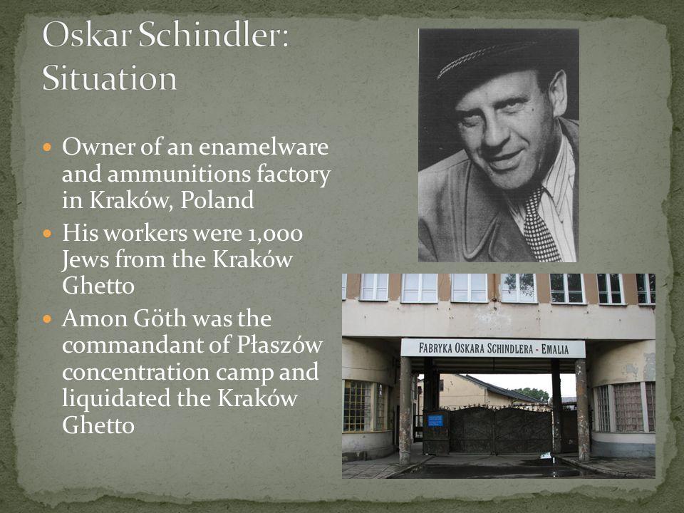 Oskar Schindler: Situation
