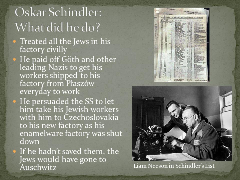 Oskar Schindler: What did he do