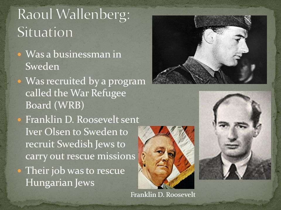 Raoul Wallenberg: Situation